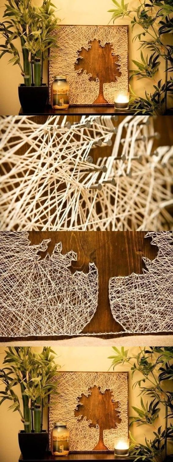 Creative String Art Canvases