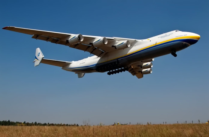 World's biggest plane Antonov An-255 Mriya touch down in Perth