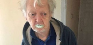 Old grandpa ate paint after mistaking it for yogurt